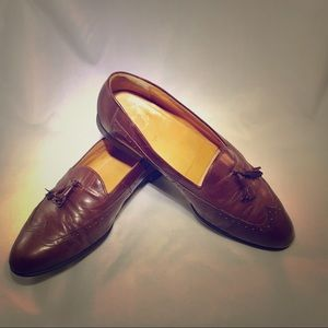 RARE FLORSHEIM WINGTIP DRESS SHOES BROWN TASSEL 10